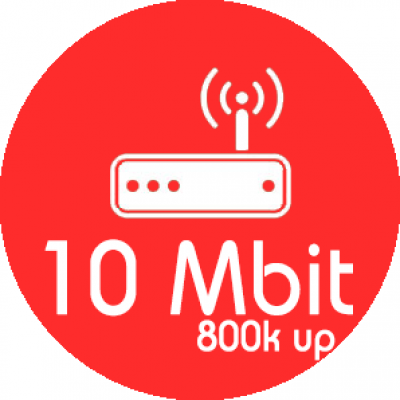 Monthly Package 10MB Down / 800KB UP