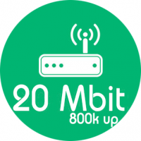 Monthly Package 20MB Down / 800KB UP